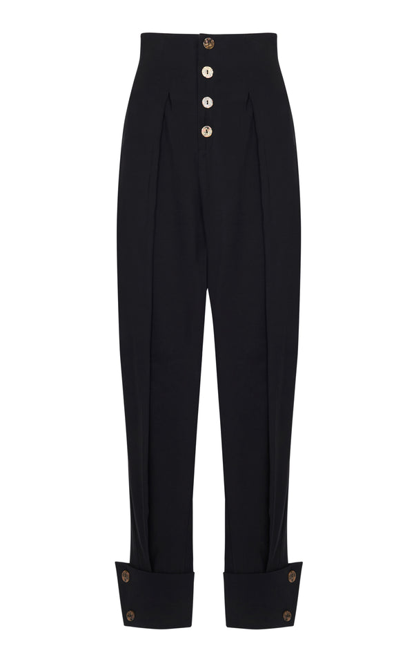 HIGH WAIST BOX PLEATED PANTS