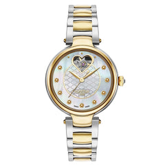 roamer dreamline 1 automatic ladies two tone mop bracelet watch