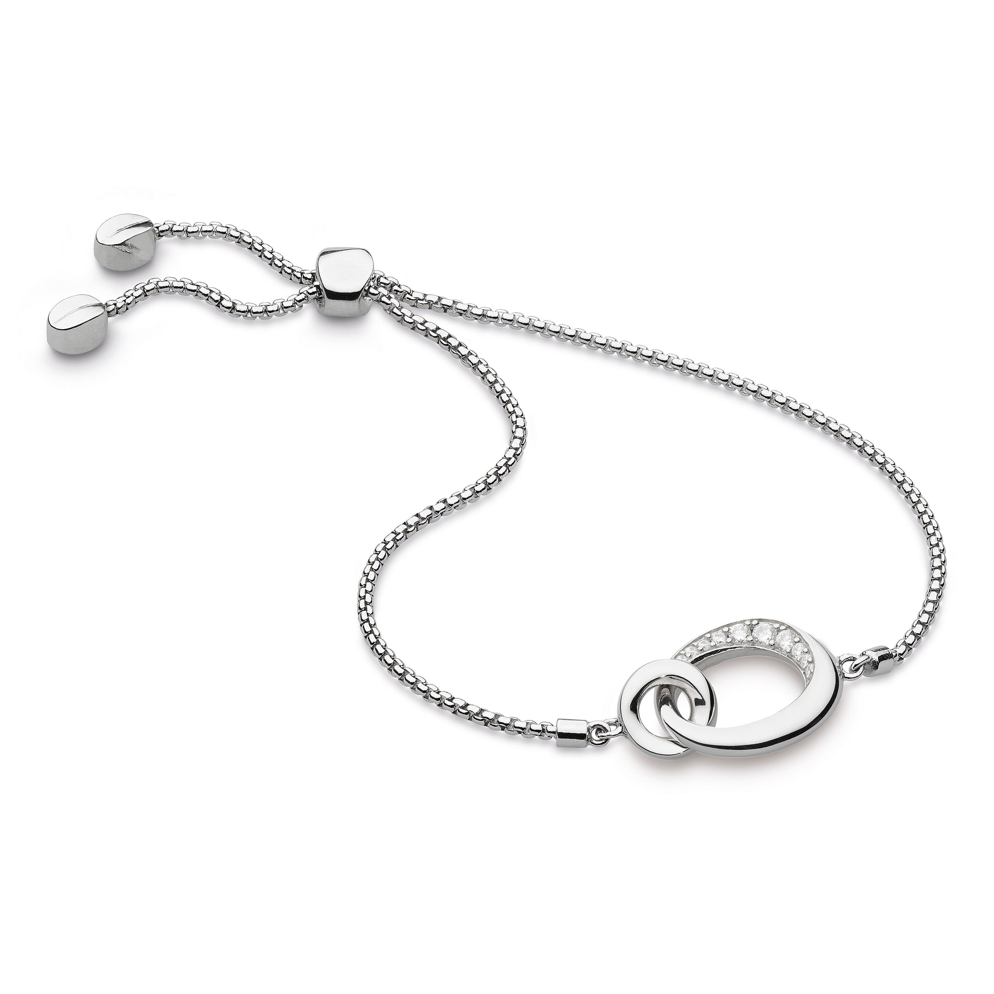 Kit Heath Bevel Cirque CZ Link Toggle Bracelet