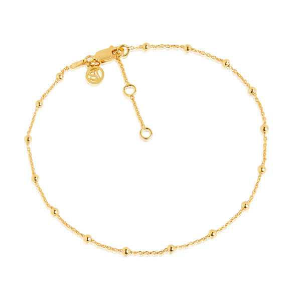 SIF JAKOBS CAVALIER ANKLE CHAIN 18CT GOLD PLATE