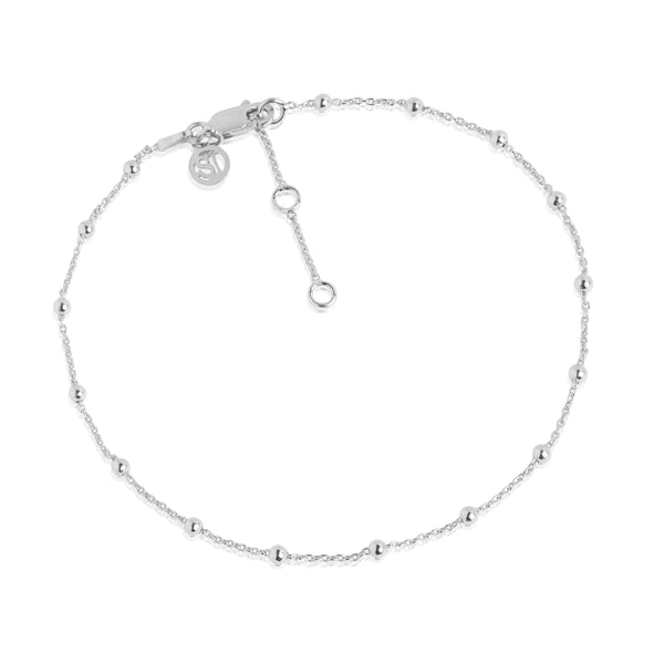 SIF JAKOBS CAVALIER ANKLE CHAIN SILVER