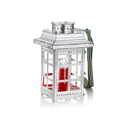 Newbridge Silverware Lantern with Red Candle Hanging Decoration