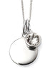April Birthstone Sterling Silver Disc & Chain