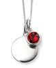 July Birth Stone Sterling Silver Disc & Chain