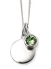 August Birth Stone Sterling Silver Disc & Chain