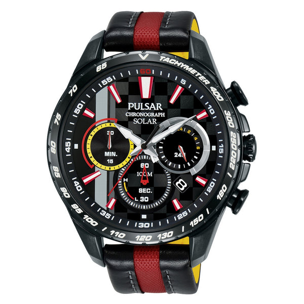 pulsar limited edition  m-sport solar gents chronograph strap watch