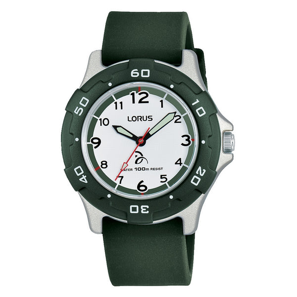 lorus  novak djokovic green silicone strap watch