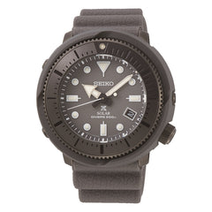 seiko prospex street series solar grey stainless steel and plastic divers  grey dial rubber strap watch