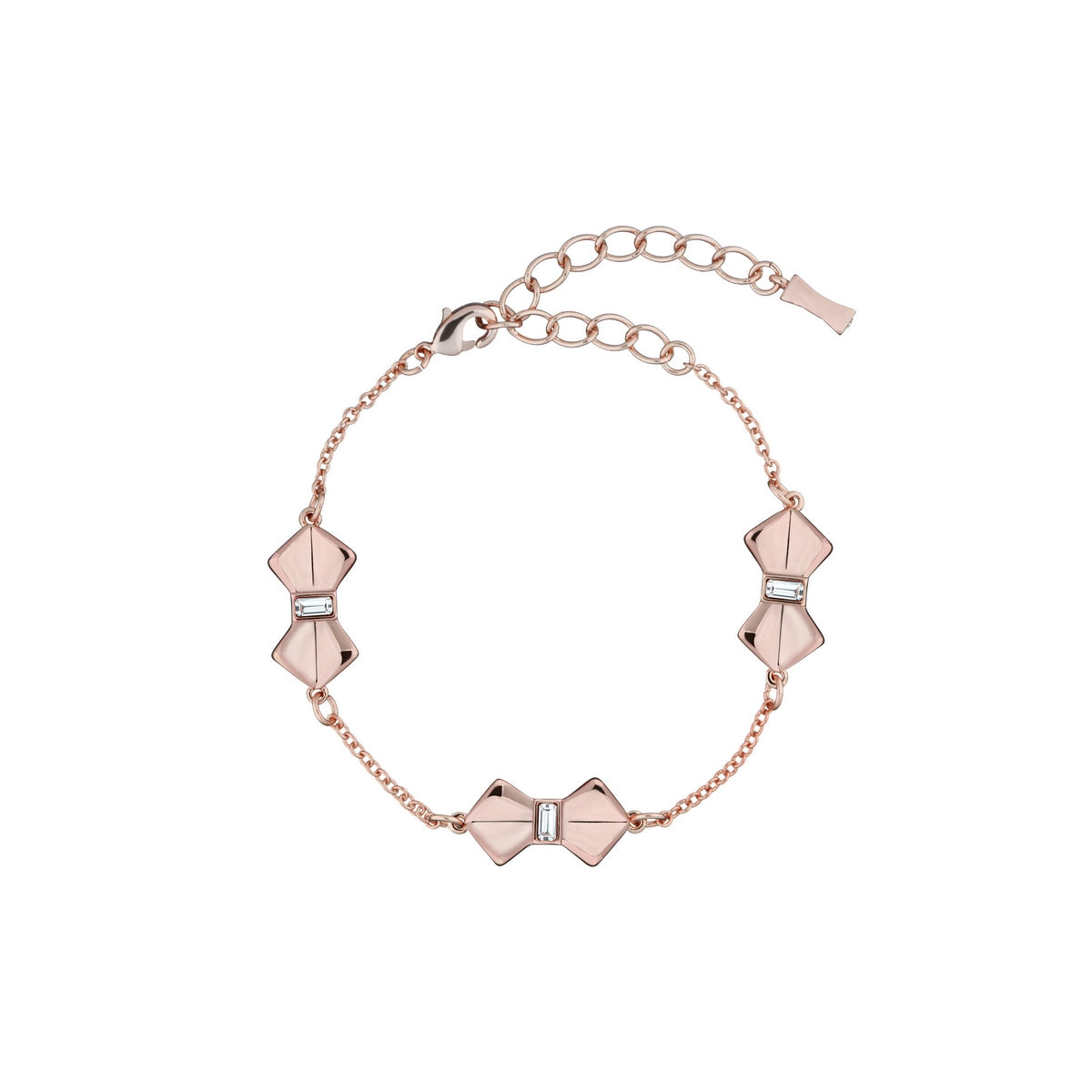 SORELL: SOLITAIRE BOW BRACELET ROSE GOLD