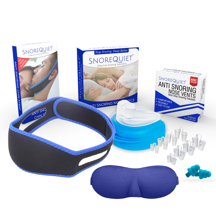 SnoreQuiet™ 5-in-1 Anti Snoring Kit