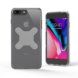 iPhone 8 Plus -Crystal magnetic case for Up' wireless charging