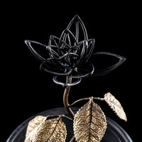 Bone flower in black