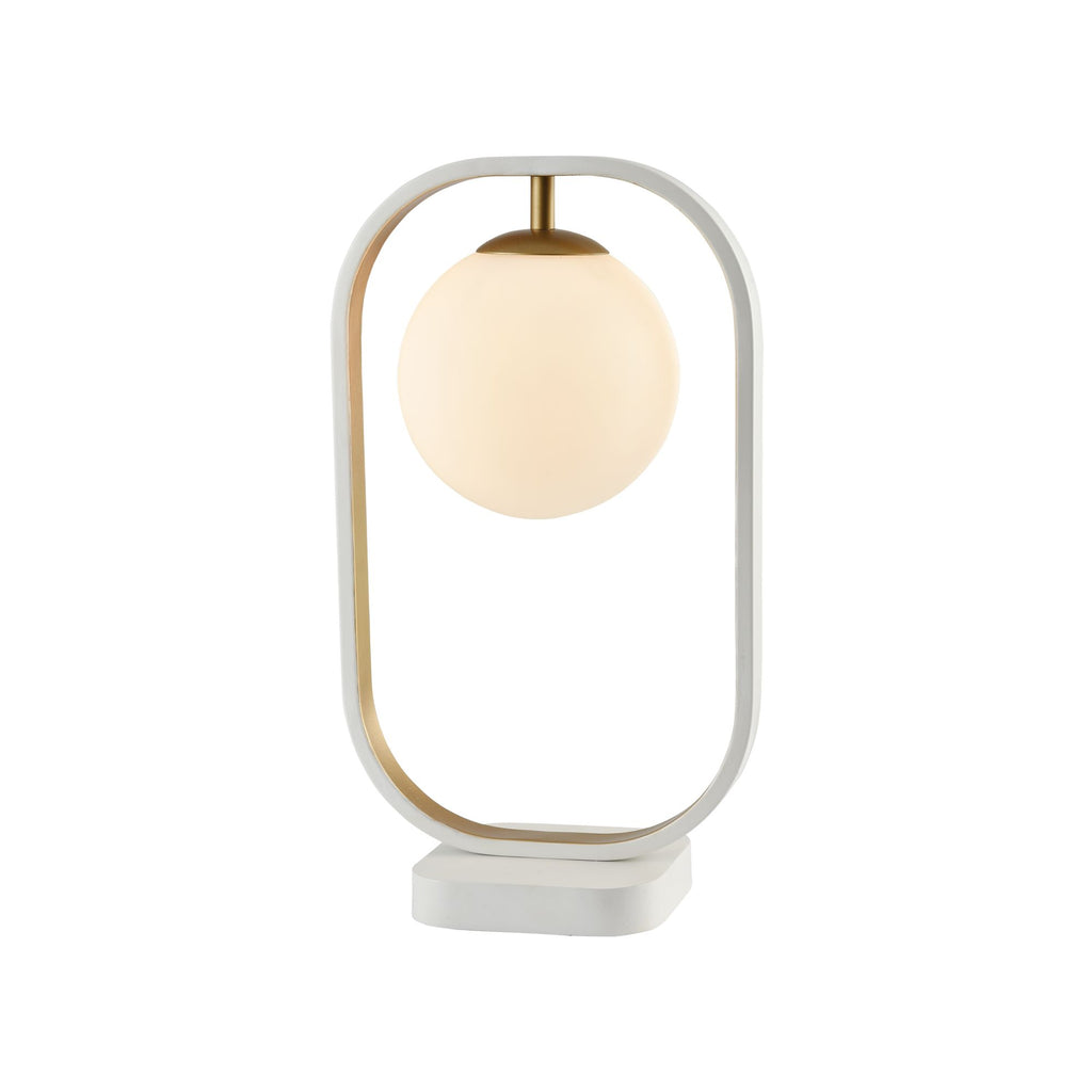 Lampa de birou alb/alama 1 bec Table Lamp Avola