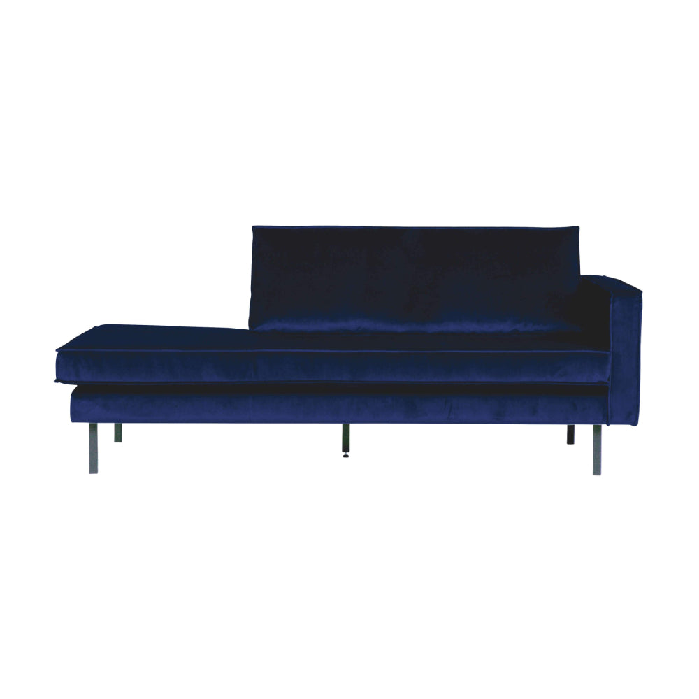 Sofa sezlong/Daybed din catifea Rodeo Right Velvet Dark Blue Nightshade