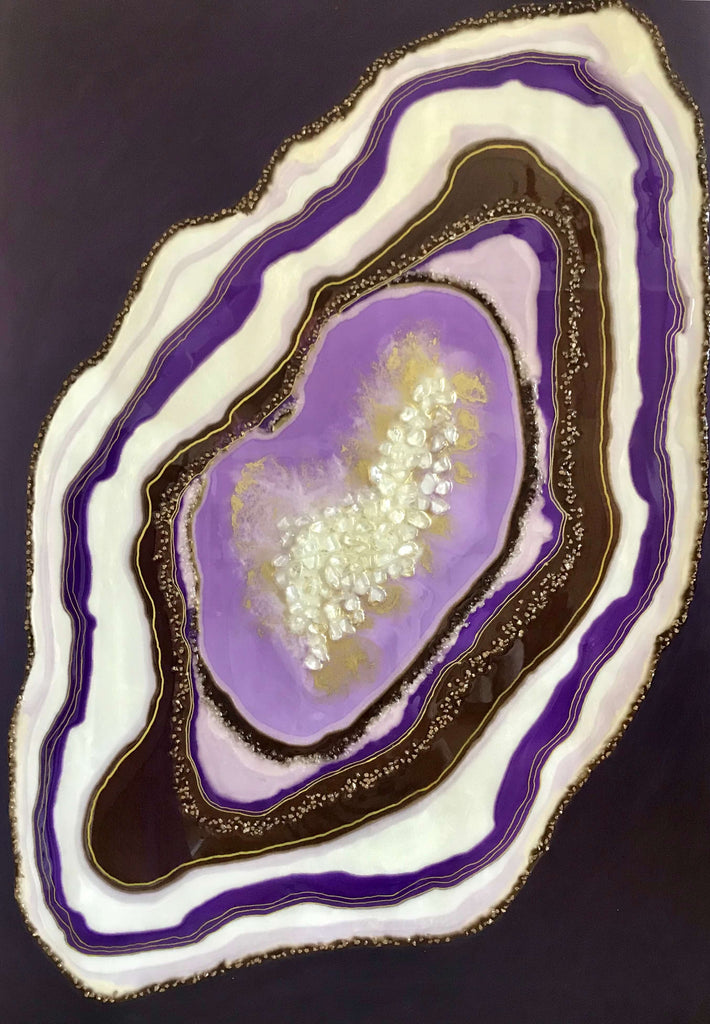 Tablou Purple Geode 70x102 cm Luxury Resin Collection