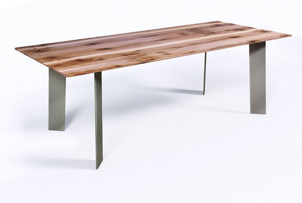 Masa dining din metal si lemn 200x100cm Terry | MARK OLIVER