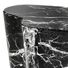 Masuta cafea Sceptre Faux Marble Black Side Table