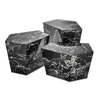 Set 3 masute cafea Prudential Black Faux Marble