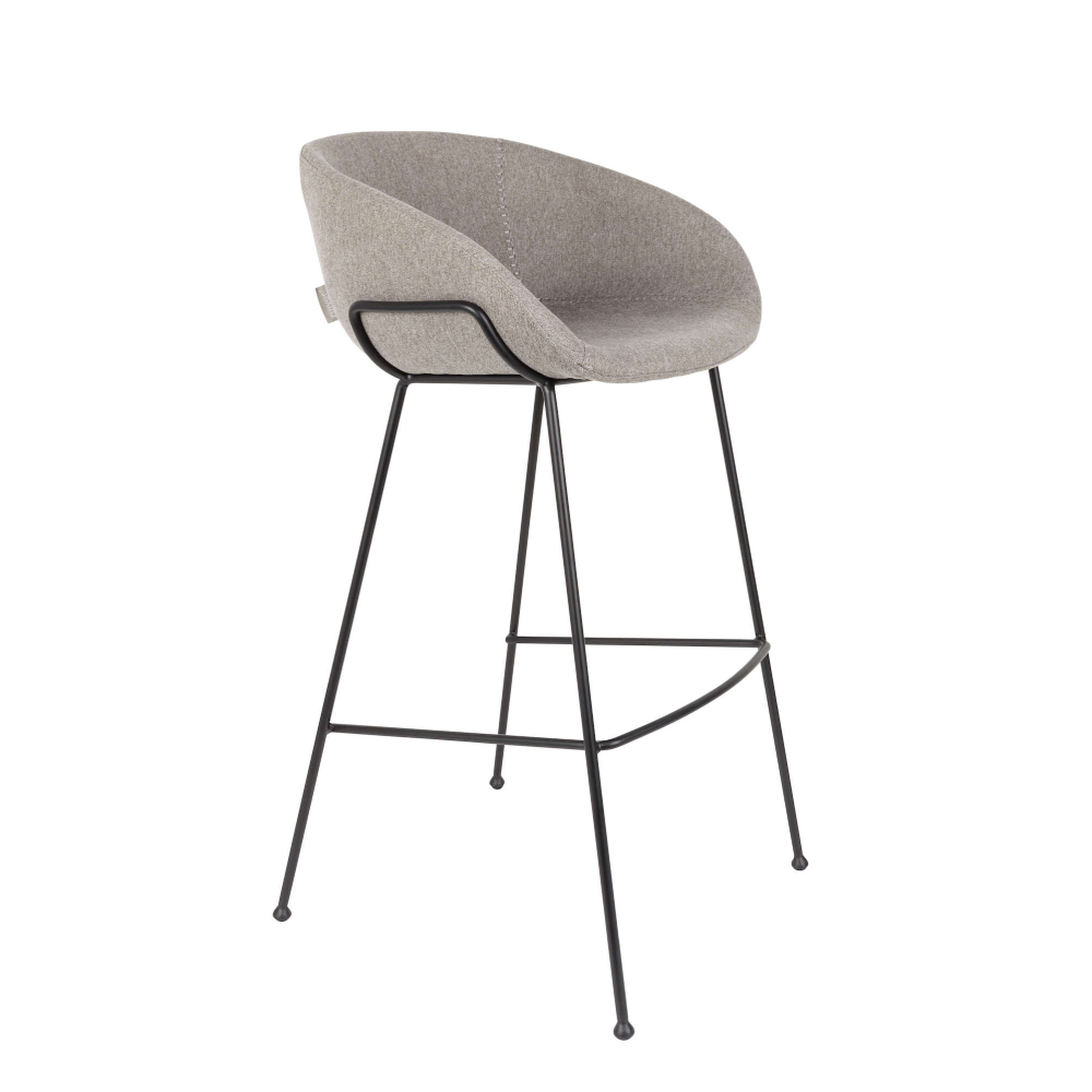 Scaun de bar gri H98,5cm Barstool Feston Fab Grey