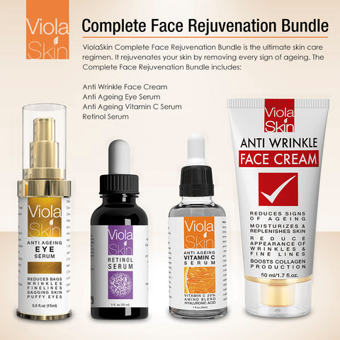 COMPLETE Face Rejuvenation Bundle (4 Full Size Products in 1)