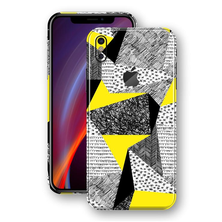 iPhone X SIGNATURE ABSTRAkT Yellow Sketch