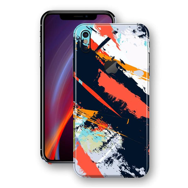 iPhone X SIGNATURE ABSTRAkT Maleri Folie/Skin