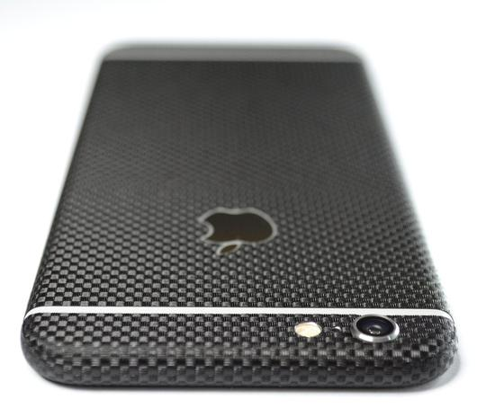 iPhone 6/6S mikro 3D carbon fiber Folie/Skin - sort
