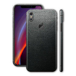 iPhone X Luxuria sort læder Folie/Skin