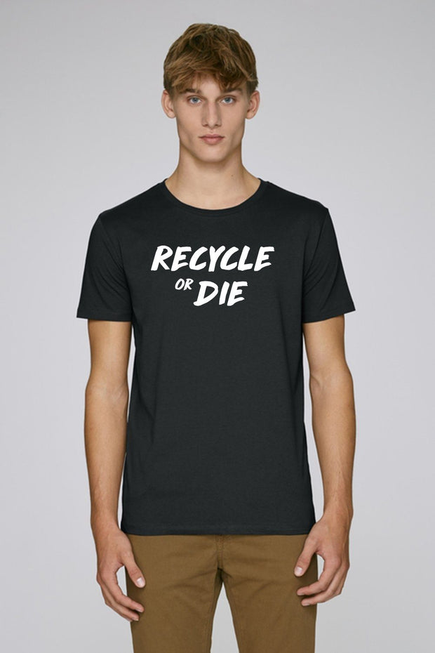 Recycle or Die Black T-Shirt - Future Humans