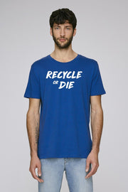 Recycle or Die Blue T-Shirt - Future Humans