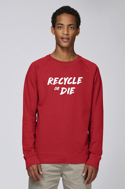 Recycled Organic Sweatshirt Red - Future Humans