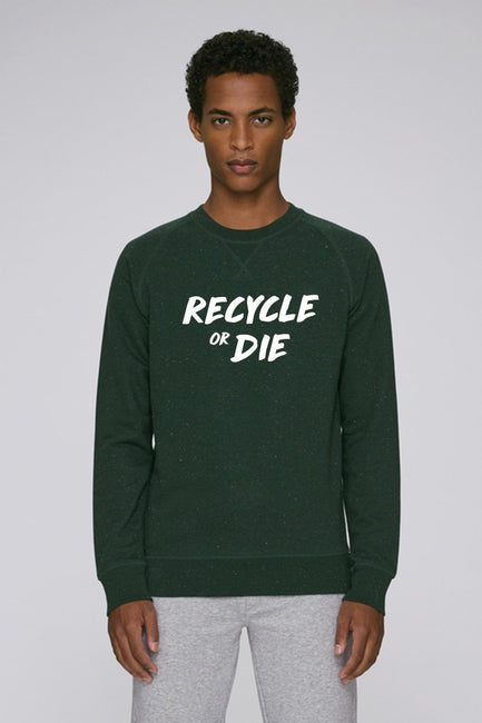 Recycled Organic Sweatshirt Green - Future Humans
