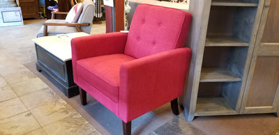 Red Accent Chair for Valentine's Day!