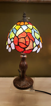 Flower Arrangement Stained Glass Lamp  DCE 28-7