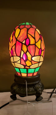 Autumn Stained Glass Lamp
