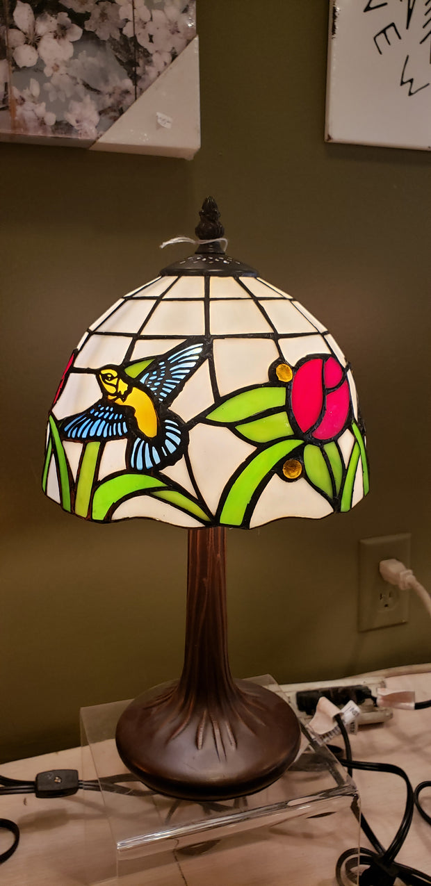 Hummingbird Stained Glass Lamp