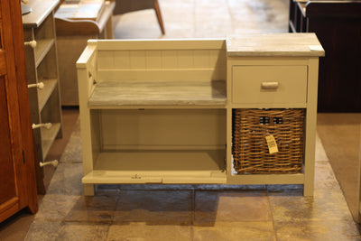 Hall Bench - 1 Drawer 1 Basket