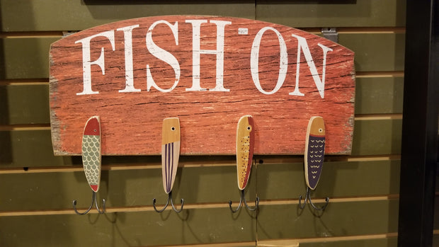 Fish On Hooks Sign