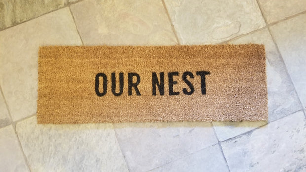 """Our Nest"" Coir Door Mat"