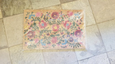 Flower Theme Coir Door Mat