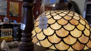 Leaded Glass Seashell Floor Lamp