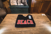 BEACH Classic Sweat Shirt - Black with Red