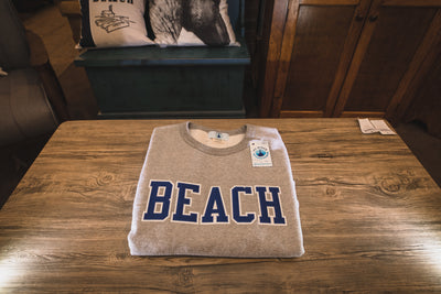BEACH Classic Sweat Shirt - Grey with Blue