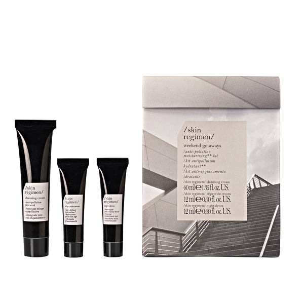 skin care gift set with cleansing cream, tripeptide cream and and overnight face mask