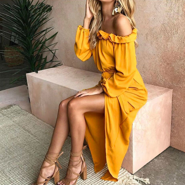 Off Shoulder Maxi Dress