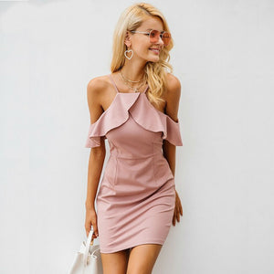 Ruffle Off Shoulder Dress