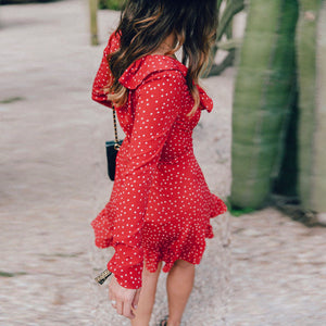 V Neck Ruffled Summer Dress