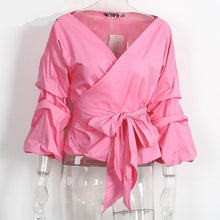 Ruffled Off Shoulder Tie Waist Blouse (3 colors)