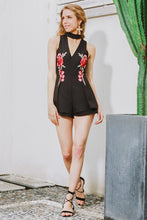 Elegant Embroidered Deep V Romper (2 colors)