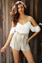 Cold Shoulder Backless Romper